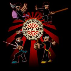 Sensei Peppers Martial Arts Club Band from Jayveezed.  This is now my fave tee