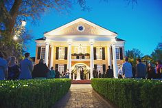 A front porch ceremony at an Antebellum-style mansion, with exclusive use of the entire plantation for your celebration, is a fun twist on the traditional Southern soirée.