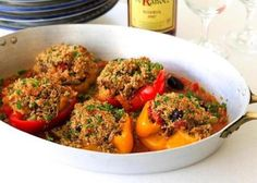 #Recipe for paella-stuffed peppers