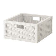 "BRANÄS Basket - white, 12 ½x13 ¾x6 ¼ "" - IKEA Holds a ream of paper or other odds and ends. Store like with like!"