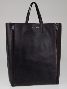 celine croc luggage tote - New* CELINE Smooth Lambskin vertical zipper gusset cabas bag ...
