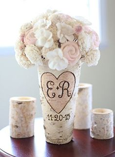 Personalized Birch Vase Rustic Custom Wedding Bridal Shower Christmas Gift Wedding Party Bridesmaids ** Check out the image by visiting the link.Note:It is affiliate link to Amazon. #photo