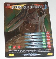 DOCTOR WHO<>BATTLES IN TIME TRADING CARD<>DALEK SEC HYBRID<>CARD No. 583