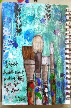 UmWowStudio: My Motivational Art Journal Page Love this. UmWowStudio: My Motivational Art Journal Page Art Journal Pages, Journal D'inspiration, Art Journals, Journal Challenge, Journal Ideas, Journal Prompts, Bullet Journal, Drawing Journal, Wreck It Journal