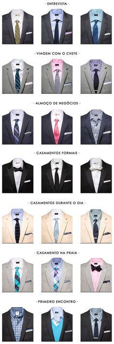 Como combinar gravatas com o estilo!