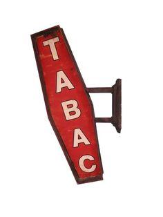 Tabliczka na ścianę 'TABAC'