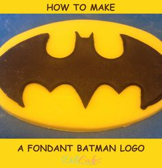 How to make a fondant batman logo for your cakes and cupcakes