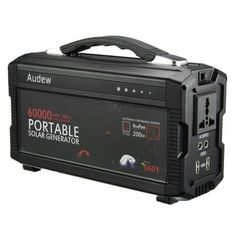 AUDEW Powerhouse Portable Generator Power Source with AC Silent Power Inverters AC & USB Output Supply for Camping Emergency Backup - Power Generators - Ideas of Power Generators Battery Generator, Portable Generator, Silent Generator, Best Solar Panels, Solar Panel Installation, Solar Charger, Solar Energy System, Usb, Camping