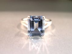 Blue Topaz Ring  Sterling Silver Ring by BooBooArtLLC on Etsy, $75.00