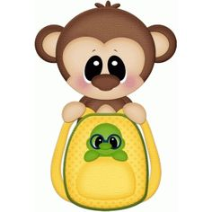 Silhouette Design Store - View Design #64823: monkey w backpack pnc
