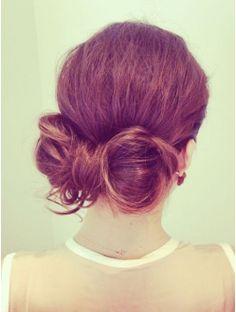 ワークスヘアデザイン(WORKS HAIR DESIGN)フワッとルーズなリボンヘアセット