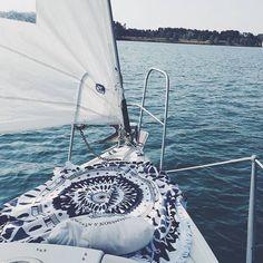 Setting sail to explore the seas // via @thebaeng The Beach People