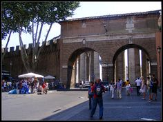 Gate between Vatican and Rome