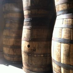 Beautiful barrels in the sunlight! 1st day of full sun in weeks. #yeahthatgreenville #bourbonwood #woodgoods #nofilter by bourbonwoodtradingcompany