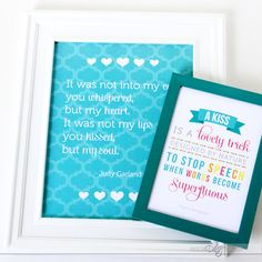 """Meaningful Anniversary Gift - DIY """"I Love Us"""" Book and Love Quote Posters!"""