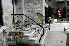 Wrought Iron Stairs on Wrought Iron Railing   Fall Branches   Battig Design