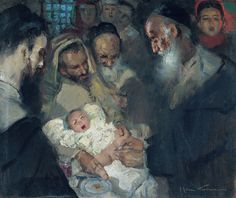 "José Cruz Herrera (Spain, 1890 - 1972) ""Circumcision"""