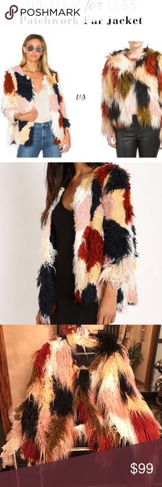 Patchwork faux fur jacket Worn once for just an hour or so, too small for me; best fit size 8.  This is an ADORABLE faux fur jacket; I love it, but it truly deserves a more loving home!!  JUST LIKE NEW!!! Romeo & Juliet Couture Jackets & Coats