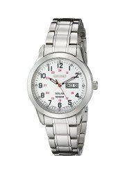 Seiko Women's SUT167 Analog Display Japanese Quartz Silver Watch