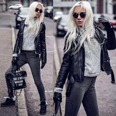 Oksana Orehhova - Lovelywholesale Sweater, Lovelywholesale Bag, Freyrs Sunglasses - LOVING GREY