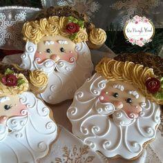 Santa cookies, Christmas cookies, gingerbread cookies, keepsake cookie gift, decorated cookies