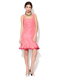 Scoop Neck Ruffle Hem Dress by RED Valentino at Gilt