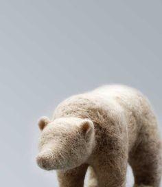 Caste: Needle Felt Polar Bear