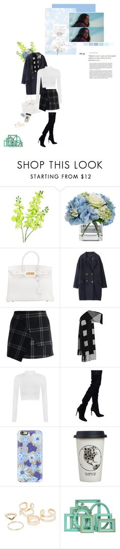 """""""Still here in this quiet room, Deep in delusion sending me over, Outside watch the world go by, Inside time stands still as I wonder"""" by chrissykinz ❤ liked on Polyvore featuring Haze, Diane James, Hermès, Chicwish, Burberry, WearAll, Balmain, Casetify, Natural Life and MANGO"""
