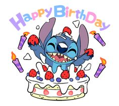 happy birthday stitch Happy bday Stitch | Cute Picture & clip art | Pinterest | Lilo and  happy birthday stitch