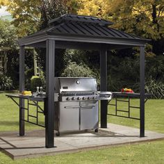 Bbq Shelter Made With Corrugated Metal Gusty Winds Won T