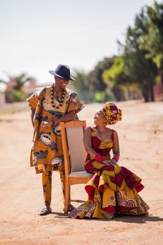 A Perfect Tswana Wedding With A Blend Of Modern Elements Ankara Clothing, African Print Clothing, African Men Fashion, African Wear, Beautiful African Women, African Traditions, South African Weddings, Black Couples, Wedding Portraits