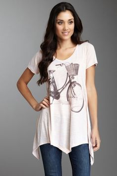 Retro bike shirt. super cute