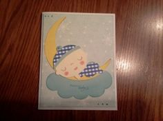 Congratulations card for a new baby boy
