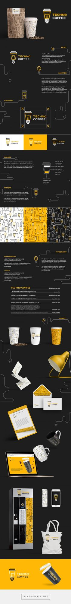 TechnoCoffee Coffee Vending Machine Branding by Logo Machine | Fivestar Branding Agency – Design and Branding Agency & Curated Inspiration Gallery  #coffeebranding #branding #packaging #brand #packagingdesign #design #designinspiration