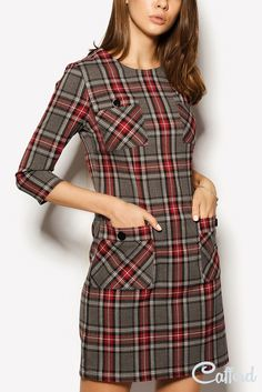 Swans Style is the top online fashion store for women. Shop sexy club dresses, jeans, shoes, bodysuits, skirts and more. Winter Dresses, Casual Dresses, Short Dresses, Fashion Dresses, Plaid Dress, Dress Skirt, Tartan Mode, Tartan Fashion, Mode Hijab