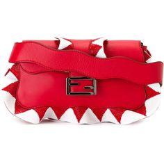 29e29d44e860 Fendi zig-zag shoulder bag (€3.325) ❤ liked on Polyvore featuring bags