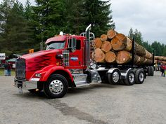 #heavyhauling Truck with Logs