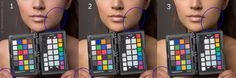 Adobe DNG camera profiles: subtle differences in skin colors and skin brightness, as visible within the blue circles