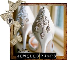 """""""D.I.Y. Jeweled Pumps"""" by gypsyprincesses ❤ liked on Polyvore"""