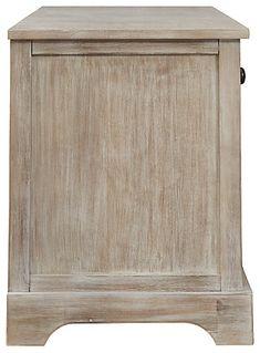 Oslember Storage Bench | Ashley Furniture HomeStore Basket Weaving, Woven Baskets, Weathered Furniture, Metal Drawers, Brown Wood, Engineered Wood, Light Shades, Mudroom
