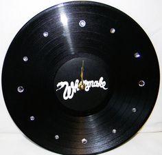 WHITESNAKE Vinyl Record Wall Clock by PandorasCreations on Etsy, $25.00