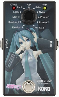HATSUNE MIKU STOMP STOMP EFFECT | Effects Guitar (Japan Import)