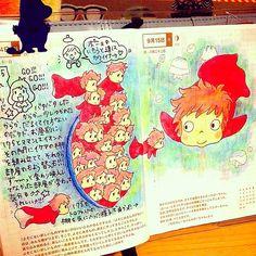 notebook,jornal Bullet Journal Films, Bullet Journal Inspiration, Hayao Miyazaki, Journal Pages, Journals, Studio Ghibli Movies, Hobonichi, Shopkins, Totoro