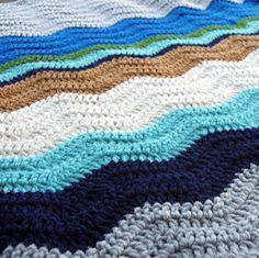 chevron ripple blanket