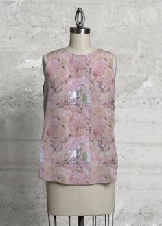 Blossoms Sleveless Top 85.00 USD