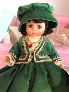 """1989 Madame Alexander Scarlett Jubilee II 8"""" Doll in Box #400 Gone with the Wind #MadameAlexander #DollswithClothingAccessories"""