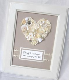 Button heart - great gift for a wedding or a new home:-) available at www.facebook.com/shanouki