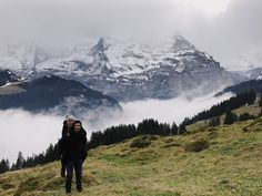 Walk to Murren, Switzerland
