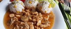Hähnchenbrust mit Champignons und Reis