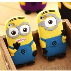 Iphone Samsung Despicable Me 2 Minions Soft Case for iPhone 4/4s/5/5S/5C/Galaxy S3/S4/iPod Touch 4/4g/ 5/5g-Weekly Deals